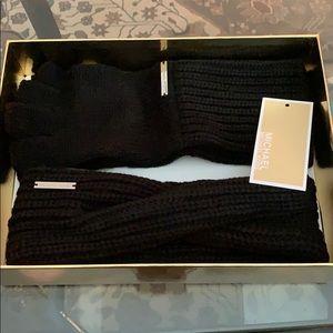 MK headband and fingerless gloves